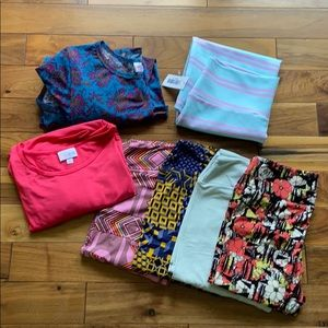 Bundle LuLaRoe Size Small Leggings Dress Skirt Top